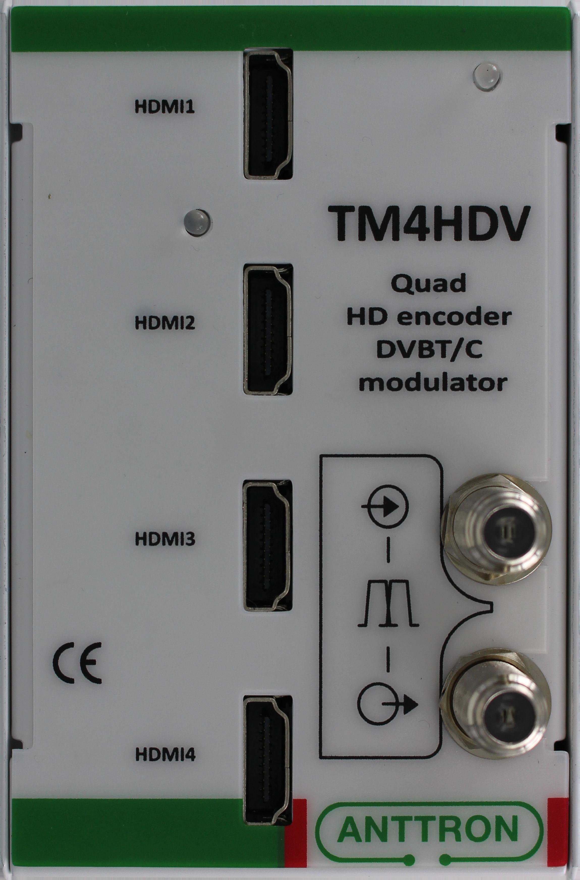 TM 4HDV – modulator 4 x HDMI do DVB-T/C (ZAPYTAJ O PRODUKT)