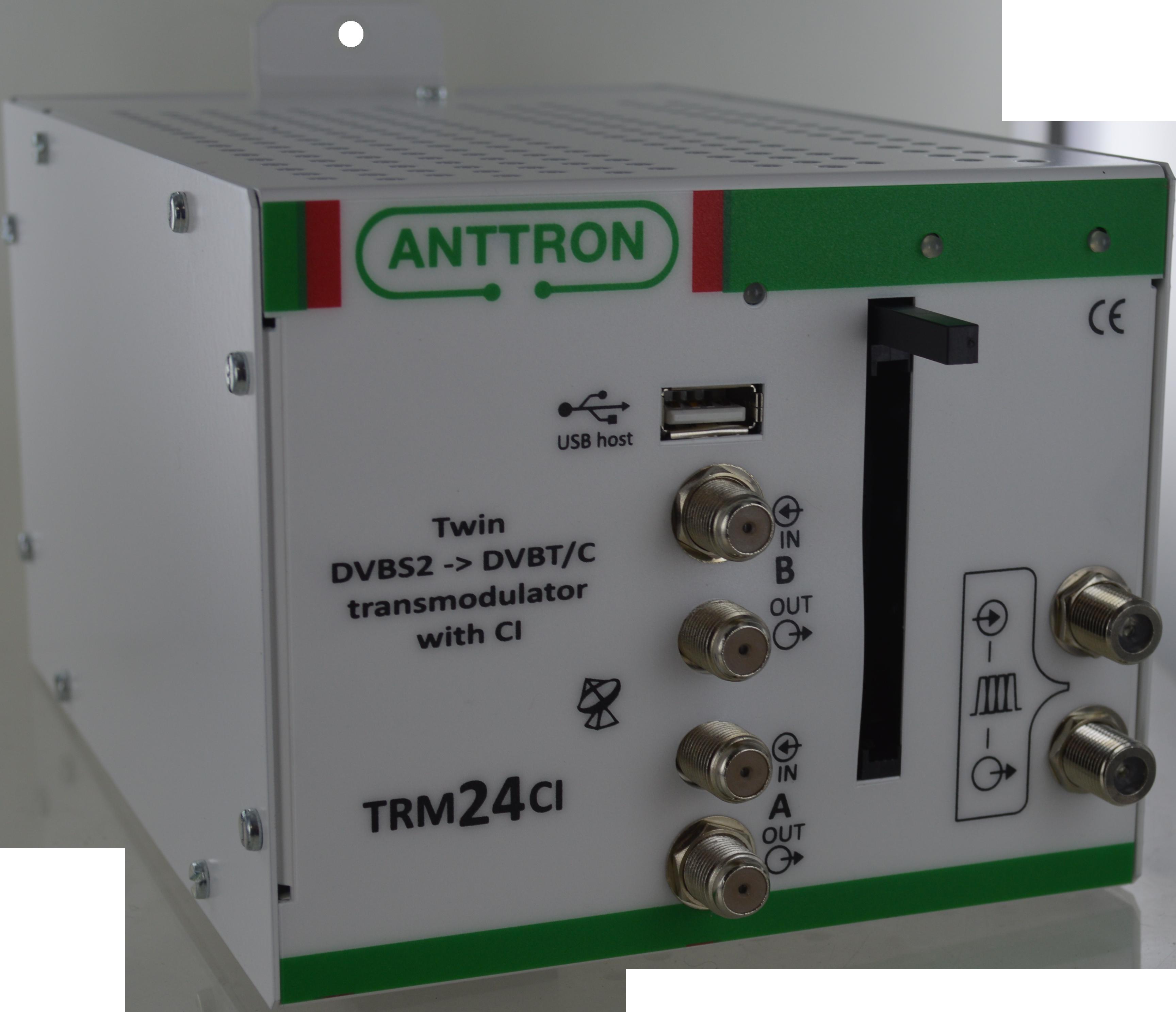 TRM 2CI TWIN – transmodulator DVB-S/S2 -> DVB-T/C (ZAPYTAJ O PRODUKT)